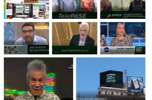 Television, diarios y revistas